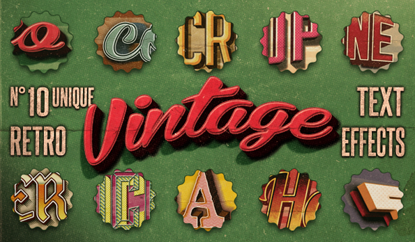 VintageTextEffectsVol1 by TheCreativeCatDesign
