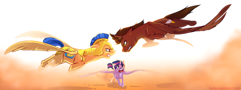 Commish : Flash Sentry vs. Courageous Heart by Keekoi
