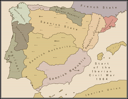 Start of the Iberian Civil War 1964