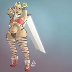 Chubby amazon warrior by rublav