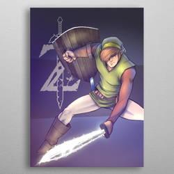 Link. The legend of Zelda