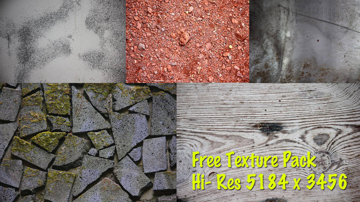 Free Hi-Res Texture Pack 5184 x 3456 (200+) by elemental523
