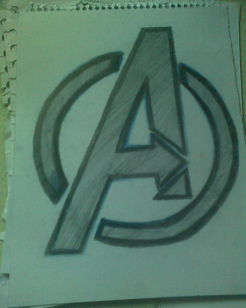 Avengers Pencil Drawing Drawing Logo Avengers Logo