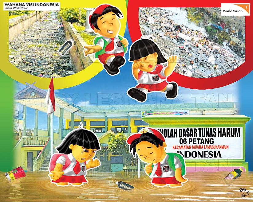 Dampak Buang Sampah Sembarang Bencana Banjir By Zbell On Deviantart