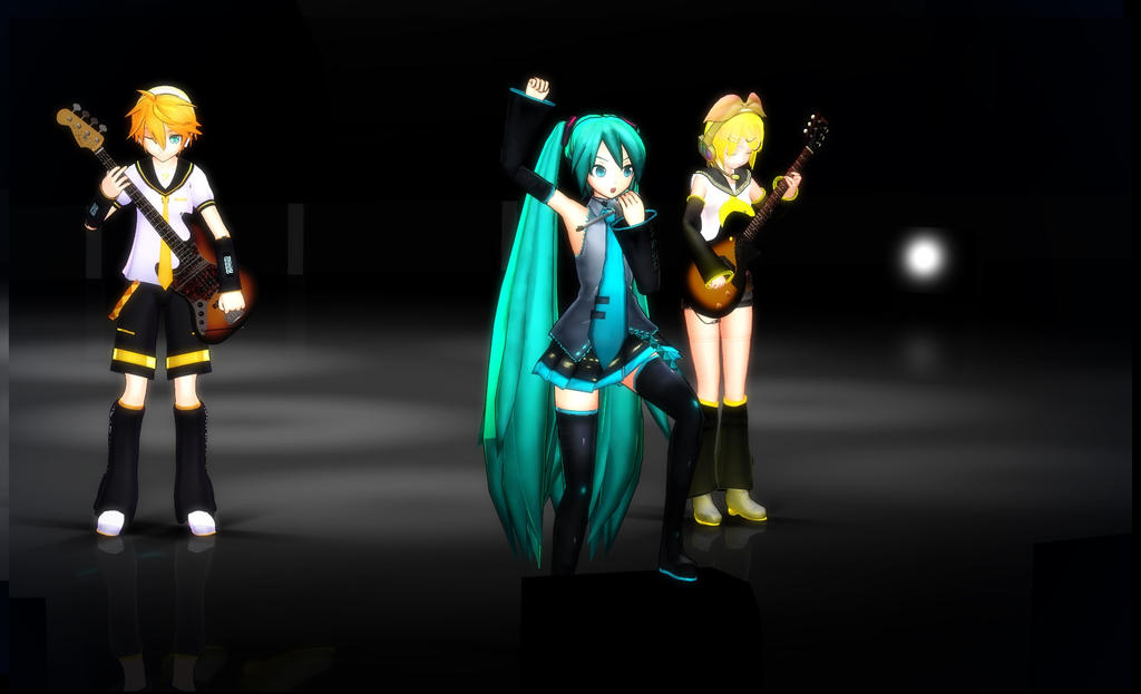 MMD -LIVE- Miku, Len y Rin Por Mlsalgadinho en DeviantArt-3146