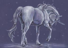 Winter unicorn by Hikari-kirin