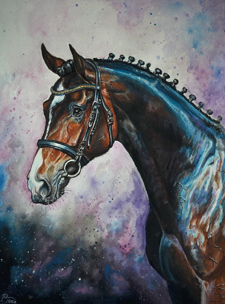 Blue horse by Hikari-kirin