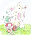 Yotsubato and te Easter Bunny