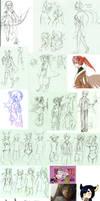 Pokimono Sketch Dump 3 by DingDingy