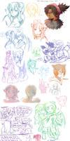 Pokimono Sketch Dump 4 by DingDingy