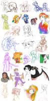 Pokimono Sketch Dump 5 by DingDingy