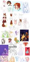 Pokimono sketch dump 6 by DingDingy