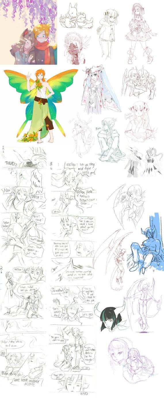 Pokimono sketch dump 7: ALL THE CHILDREN