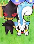 Banette and Pachirisu