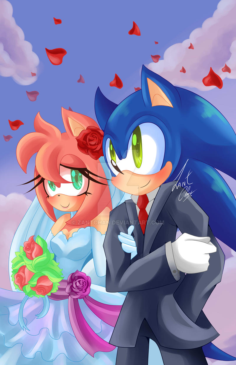 Wedding by ZantChan on DeviantArtAmy And Sonic Wedding