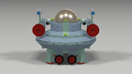 Rockettron Saucer Fighter Back