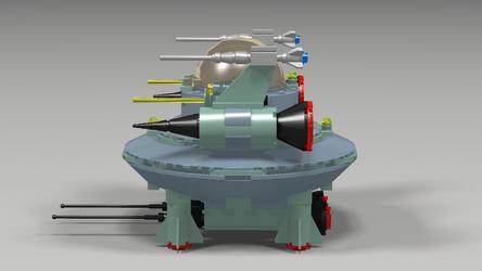 Rockettron Saucer Fighter Side