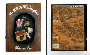 To Kill a Mockingbird- book sculpture,hideaway box