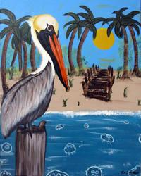 Pelican Bay, original painting