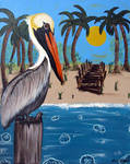 Pelican Bay, original painting by RFabiano