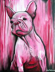 Frenchie - French bulldog, original painting