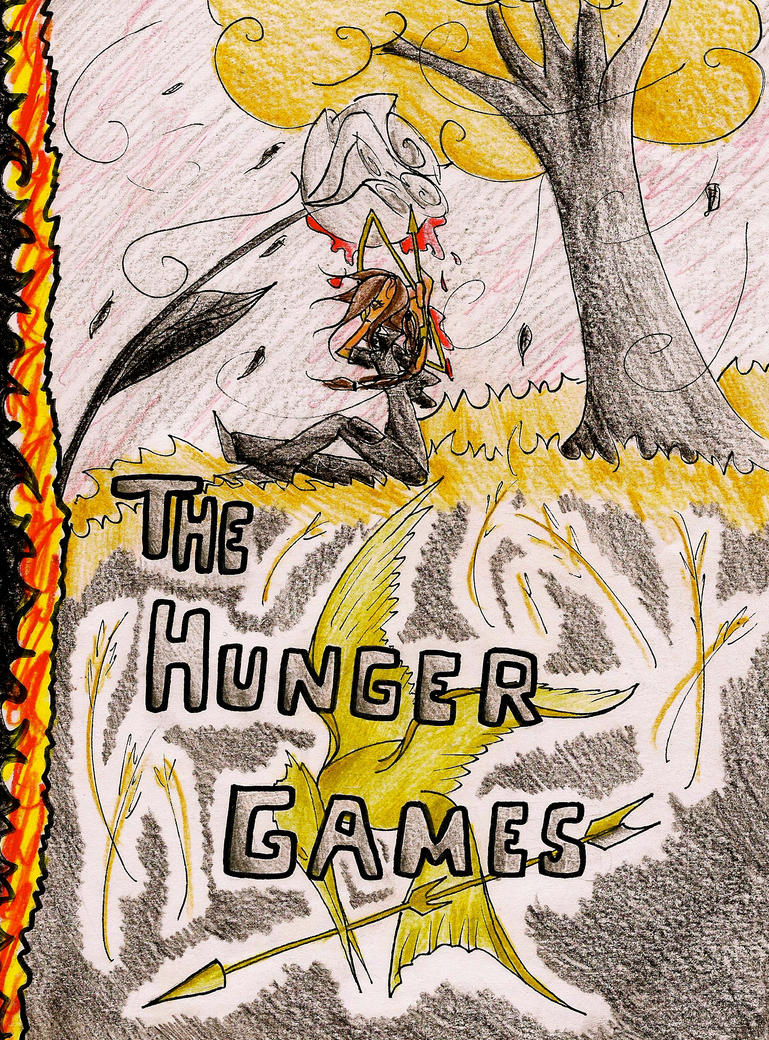 Book Cover Graphism Games : Hunger games book cover by drawingbel on deviantart