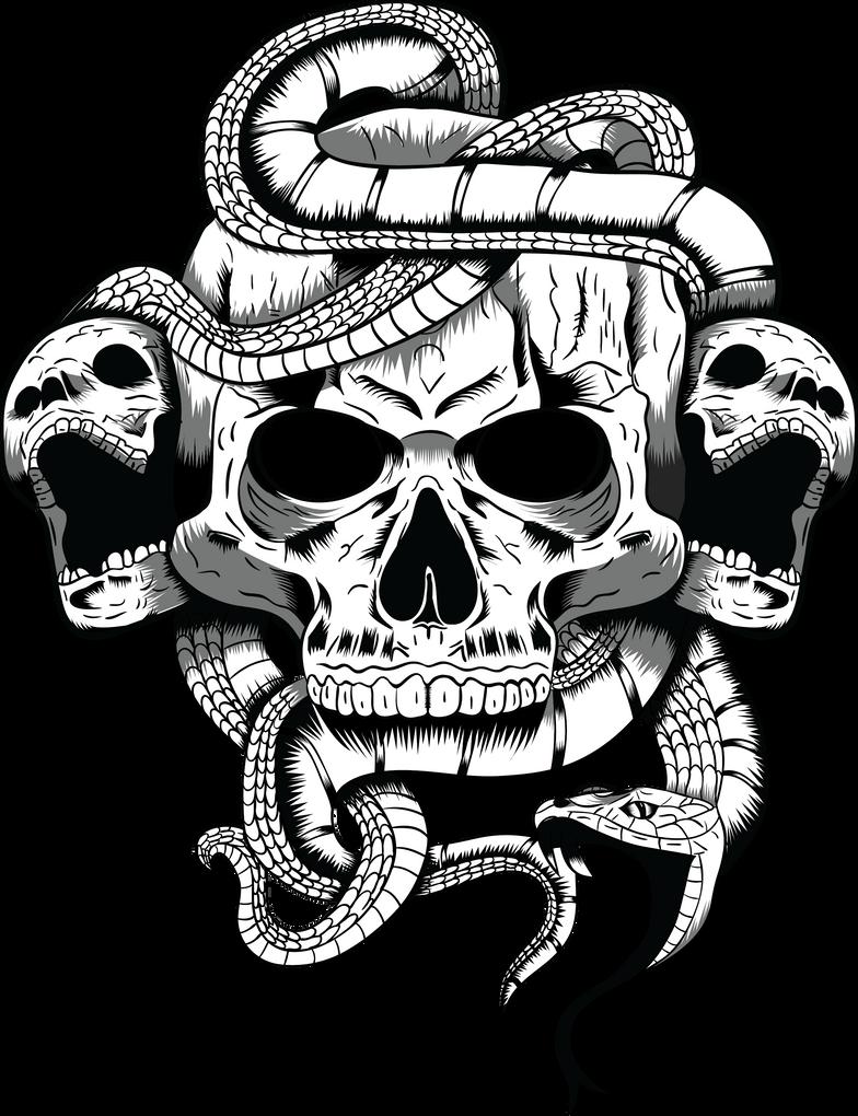 Skull Illustration by ArrtMan