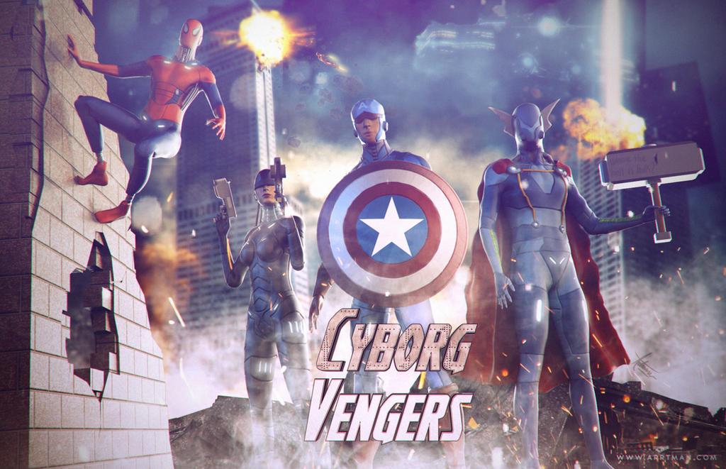 CyborgVengers- Avengers Fan art by ArrtMan