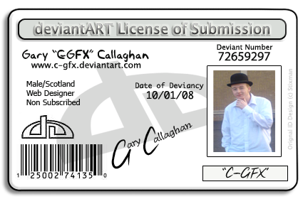 DA Licence Of Submission Card by C-GFX