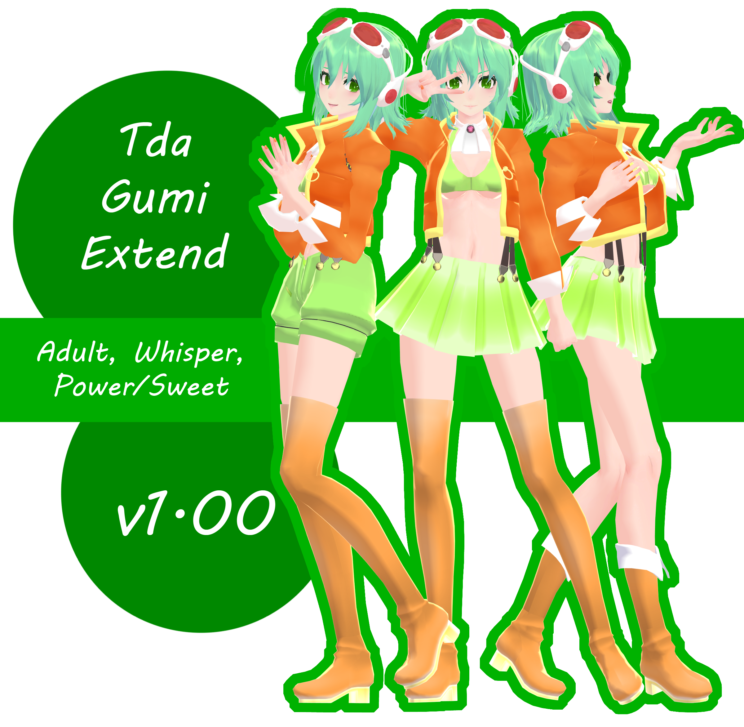 [100+ watchers gift] Tda Gumi Extend by kage--chan
