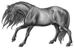 Stallion Lineart by urilium greyscale