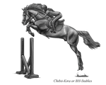 Free Powerful Horse Jumping Bh Stables Greyscale