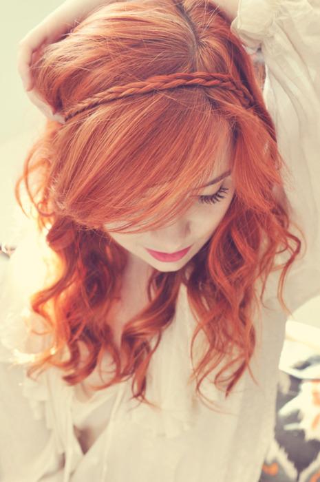 Фото девушек с рыжими волосами со спины на аву в контакт