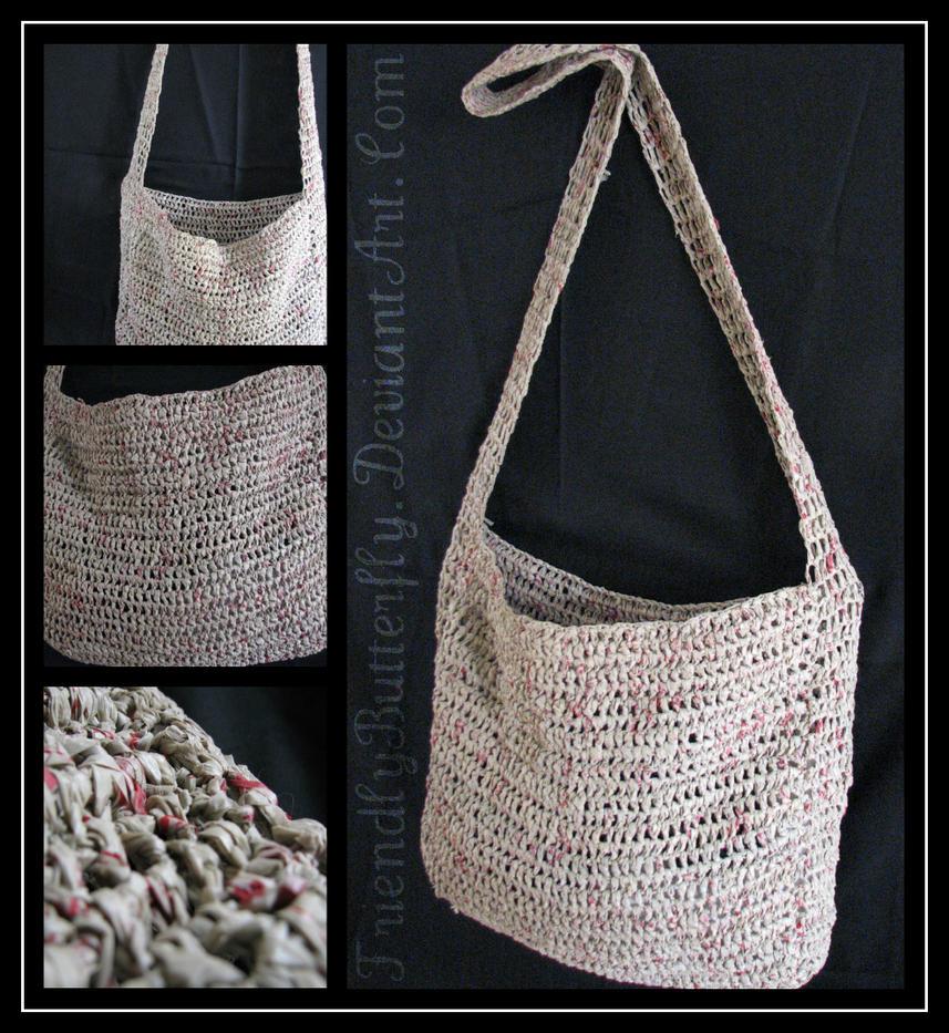Crocheted Plastic Bag by FriendlyButterfly