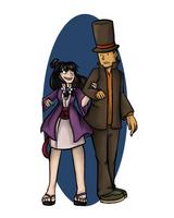 Professor Layton and Maya Fey by Doodleniks