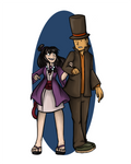 Professor Layton and Maya Fey