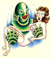 Creature From The Black Lagoon by KN-