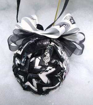 Face The Music handmade quilted ornament
