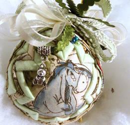 Eeyore handmade quilted ornament