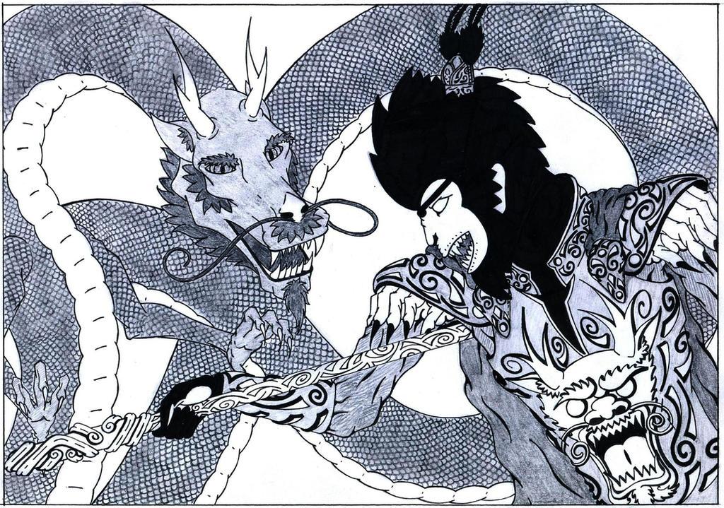monkey king vs dragon by curvy tribal on deviantart