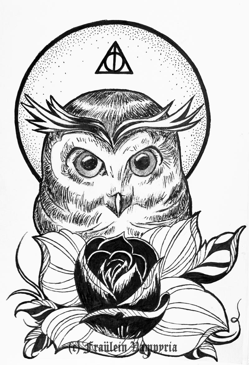 The owl the flower and the deathly hallow by frauleinvampyria on the flower and the deathly hallow by frauleinvampyria biocorpaavc