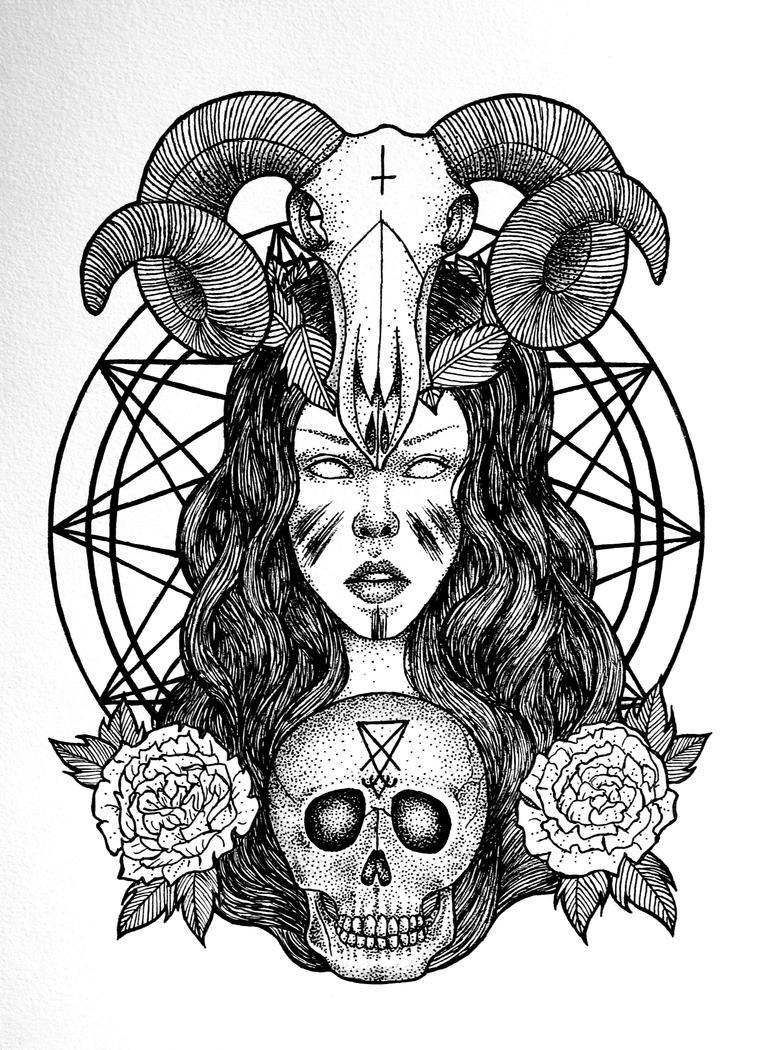 Satanic Priestess by FrauleinVampyria