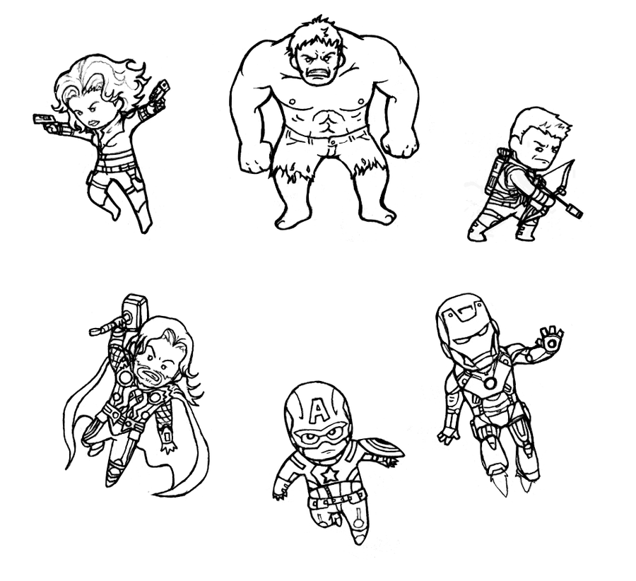 Colouring Pages The Avengers Assemble By B Dangerous On Deviantart