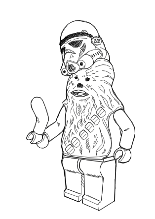 lego chewbacca coloring pages - photo#2