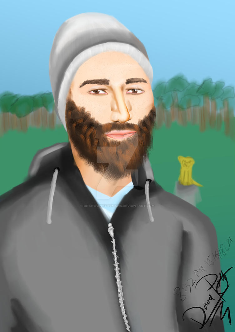 Shaved head, beard and a beanie by UnknownByHumans