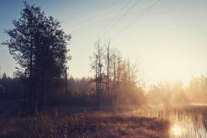 Sunrising Mist III by Freggoboy