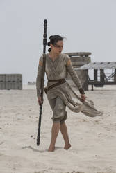 Barefoot Rey II V.2. (With Daisy Ridley's Feet) by ATonyP