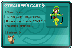 Green's Trainer Card by Chaosaholic
