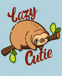 Lazy Kawaii sloth! by the-staingirl