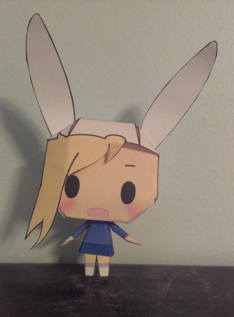 Adventure Time Fionna Papercraft by Ferriswheelshipping1